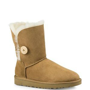 UGG Classic Shearling Bailey Button Suede Boots